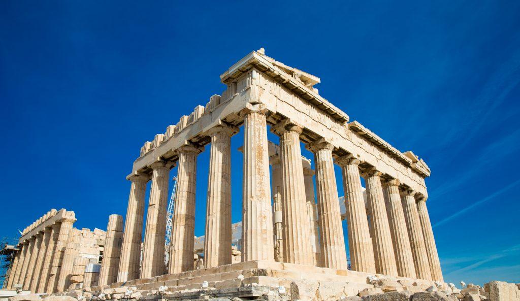 ParthenLa enseñanza y el aprendizaje eran claves para los antiguos griegos. on on the Acropolis in Athens, Greece
