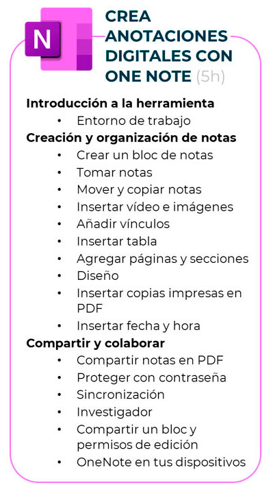 Curso de Microsoft 365 - One Note